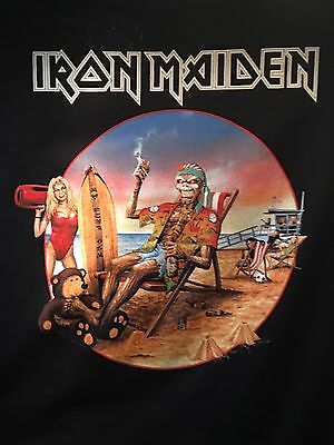 Iron Maiden Book Of Souls 2017 Tour Los Angeles California Event Only XXXL Shirt