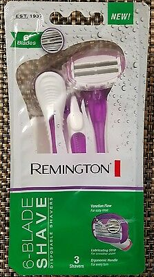 Remington 6-Blade Shave 3 Shavers PER One Pack Women
