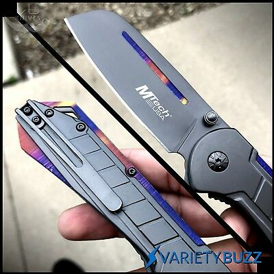 M-TECH GREY CLEAVER SPRING ASSISTED FOLDING BLADE Tactical Pocket Knife CS:GO