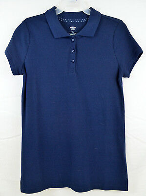 Old Navy Girls Uniform Pique Blue Polo Shirt Size Fourteen 14 XL Extra Large