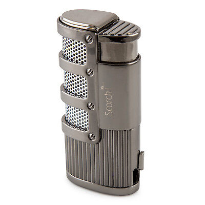 Scorch Torch Triple Jet Flame Torch Cigarette Cigar Lighter with Punch Tool