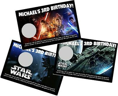 star wars personlized scratch off offs party game games cards