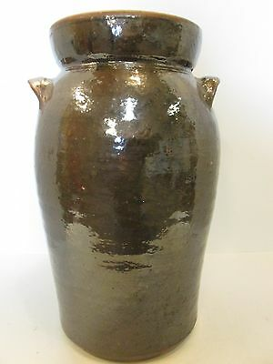 Antique Stoneware Southern American Churn With Original Lid 3 gal., Mint