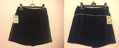 Branded Kids Performance Track short in Black & Navy Size 11-12 & 13-14YR RRP£10