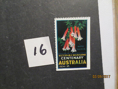 No--16--1934   CENTENARY  OF  VICTORIA & MELBOURNE --CINDERELLA  SINGLE  ISSUE'S