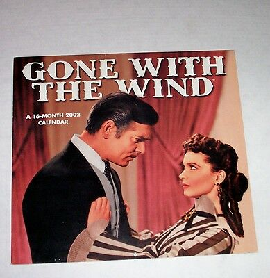Vintage Gone With The Wind 2002 Calendar 16 Month Large Photos Great Condition