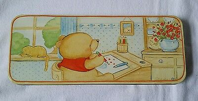 Vintage Andrew Brownsword 'Forever Friends' Oblong Pencil Crayon Hinged Tin