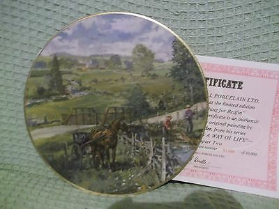 """Fishing for Redfin 9.5"""" Christian Bell Collector Plate Peter Etril Snyder 1357"""