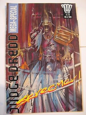 Judge Dredd 2000 Ad  Issue 4  1991 (Mega Special) mint condition