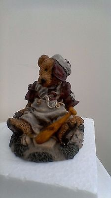 +Boyds Bears resin sculpture, Homer on the Plate No:2225