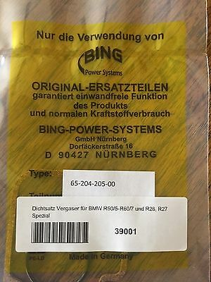 Vintage Bmw Bing Carburator Gasket Set. R50/5-60/7