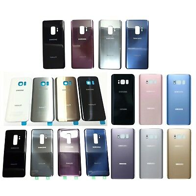 Samsung Galaxy S8 S8+ Plus G950 G955 Back Battery Cover Rear Door Glass + Tape