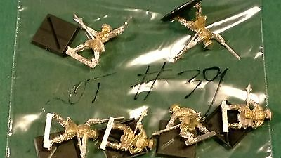 WOTC AEG Clan War metal Spear warriors 6 clan ? bits lot #39 oop