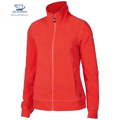 Chiemsee, Giacca in pile Donna Frode, Multicolore (fiery coral), XS