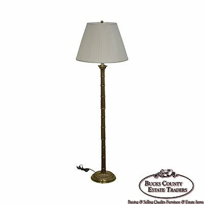 Frederick Cooper Faux Bamboo Brass Floor Lamp by Mario Buatta (no shade)