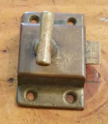 One Vintage Antique Brass Hoosier Cabinet Cupboard Turn Knob Latch