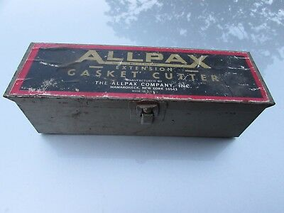 Allpax Gasket Cutter Systems Extension Gasket Cutter Metal Case Rare Vintage