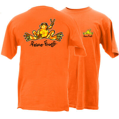 Peace Frogs Adult Hibiscus Frog Short Sleeve T-Shirt