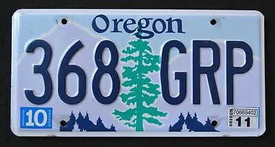 """OREGON """" TREE - MOUNTAINS -  368 GRP """"  OR Graphic License Plate"""