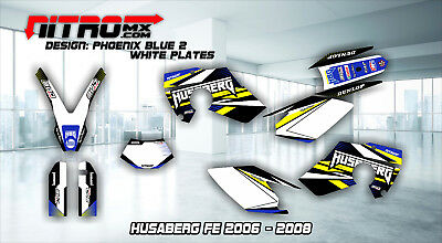 HUSABERG FE 450 550 650 2006 2007 2008 Graphics Kit Decals Design Stickers MX