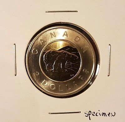 2007 Canada 2$ Toonie Specimen - Uncirculated from Set - Mint from Set