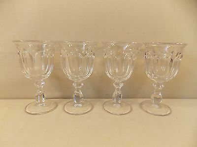 """Imperial Glass """"Old Williamsburg - Clear """" 4 Water Goblets/Stems"""