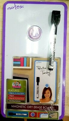 Board Dudes 5.5x10 in Magnetic Dry Erase Includes 1 Marker and Magnet Organizer