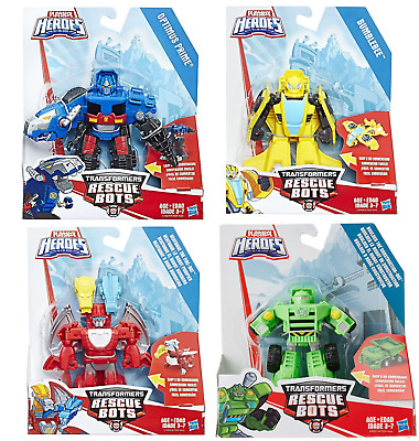 Optimus Prime T-Rex Heatwave Dragon Bumblebee Boulder Transformers Rescue Bots