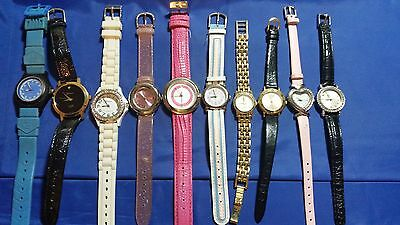 Lot Of 10 Women's Used Wristwatches
