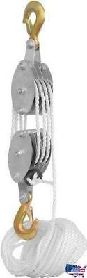 Generic Rope Pulley Block and Tackle Hoist, New, Free Ship