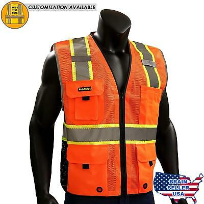 KwikSafety Class 2 Yellow Premium iPocket Safety Vest | Hi Vis Breathable Mesh,