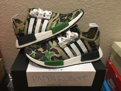 more photos 8ea8f 2cd29 DS ADIDAS NMD R1 BAPE size 9 GREEN CAMO camouflage