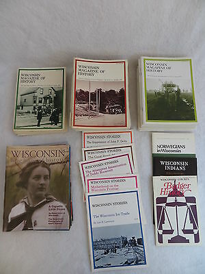 Lot of 47 WISCONSIN MAGAZINE OF HISTORY 1978-2012 & Lot of 8 Wisconsin Stories