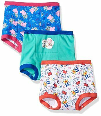 Peppa Pig Toddler Girls' 3pk Training Pant, Assorted, 2T, New, Free Ship
