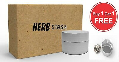 Smell Proof Jar Stash Container Airtight Herb Tobacco Spice Aluminum Storage