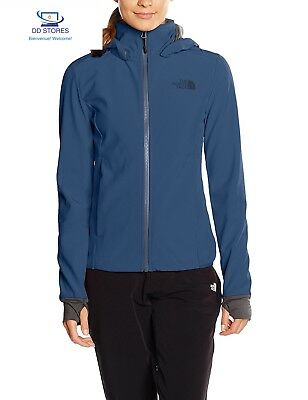 North Face W Motili Giacca, Blu/Shady Blue, S