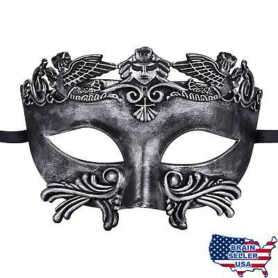 Mens Masquerade Mask Greek Roman Party Mask Mardi Gras Halloween Mask, New