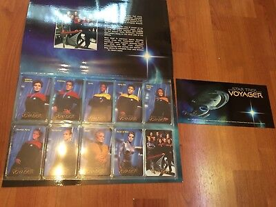 Collectable Phonecards. Star Trek Voyager  Cards In Folder