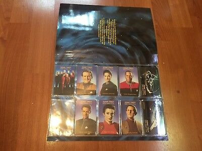 Collectable Phonecards. Star Trek Deep Space Nine Cards In Folder