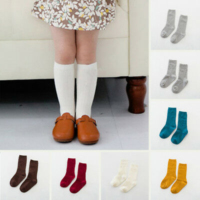 Autumn Baby Kids Infant Cotton Girls Knee High Socks Tights Leg warmer Stocking