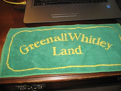 BEER BAR PUB TOWEL; Vintage GREAT BRITIAN / ENGLAND; GENERAL WHITLEY LAND; Green