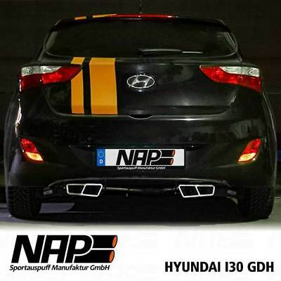 Nap Editions Duplex End Pipe HYUNDAI I30 AB bj. 2011 Stainless Steel