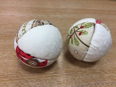 FABRIC BAUBLES HANGING BALLS x6 MYO set kit charm pack christmas Create Your Own