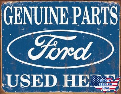 Tin Sign Ford Parts , 16x13, New, Free Ship