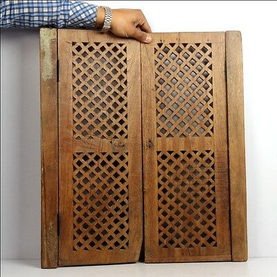 1850's Old Jharonkhe Style Wooden Window Frame Hand Carved Jali 6623