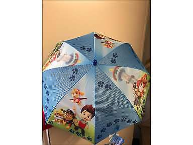 Paw Patrol Blue Umbrella Dome Bubble Shaped Travel School Gift Childrens