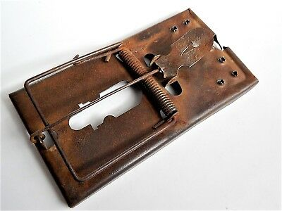Antique French rat trap, mouse, rodent ,metal
