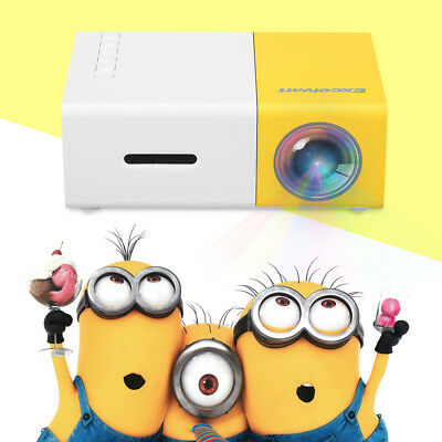 YG300 MINI Multimedia 1080P HD LED Projectors Home Theater For IPhone Samsung UK