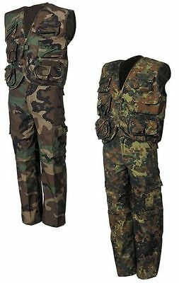 CHILDREN´s Suit Camouflage Jacket Trousers Vest Woodland