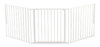 Baby Safety Pet Dog Large Indoor Home Kids Protector FirePlace Swing Gate White